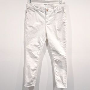 White Super Skinny Ankle Pants Old Navy Size 10